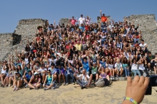 Students from Saratoga H.S. CA, and others enjoy Xochicalco. Photo courtesy of Universidad Internacional.