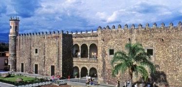 The Cortés Palace, now Museo Cuauhnáhuac in Cuernavaca's historic center.