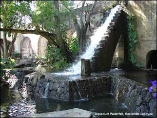 An ancient aqueduct provides water at Hacienda Cocoyoc. Photo courtesy of the hacienda.