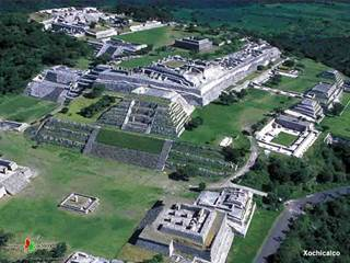 Xochicalco, the preeminent archeological site in Morelos.