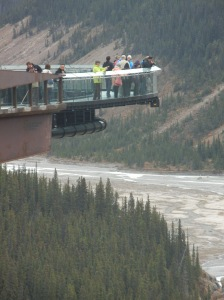 The Glacier Skywalk is perched 918 feet above the canyon below in Jasper National Park.
