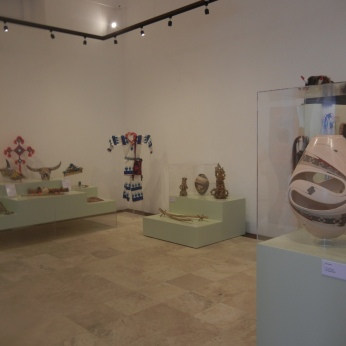 Exhibits display works from several indigenous cultures, rotating from time to time.