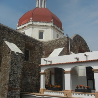The Museum abuts the ancient Church of Guadalupe.