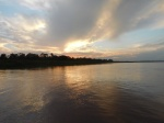 We got back just as the sun set on the river