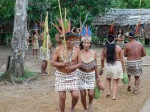 with a traditional Bora welcome dance
