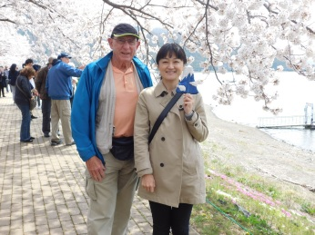 Jim with group leader Akane Shinohara