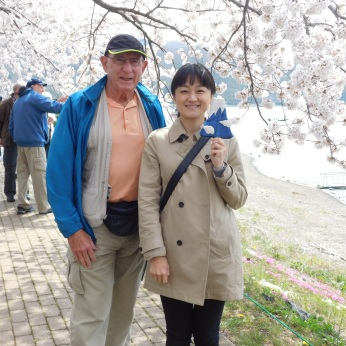 Jim with group leader Akane Shinohara