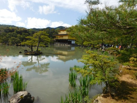 The beautiful Kinkaku-ji temple.