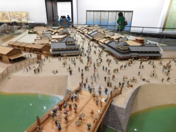 A model recreating the original city of Edo.