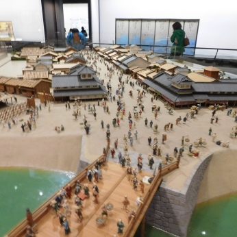 A model recreating the original city of Edo.