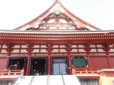 The Shenso-ji Buddhist temple, one of the oldest in Tokyo.