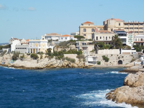 A drive along the coastal road offered many beautiful views of Marseille.