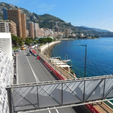 A lovely promenade along Monte Carlo harbor.