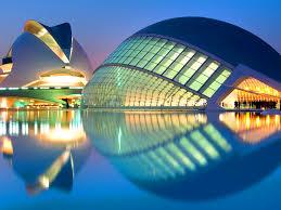 Santiago Calatrava's City of the Arts and Sciences.