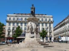 A statue of Luis Camoes dominates the square named after him.