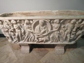 The sarcophagus of a Roman settler family.