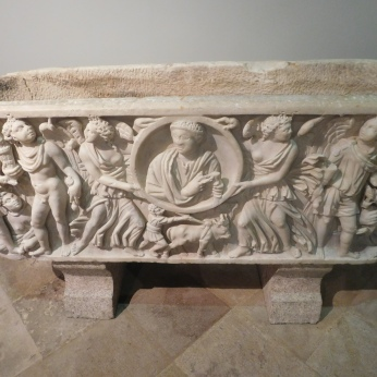 The sarcophagus of a Roman settler family.