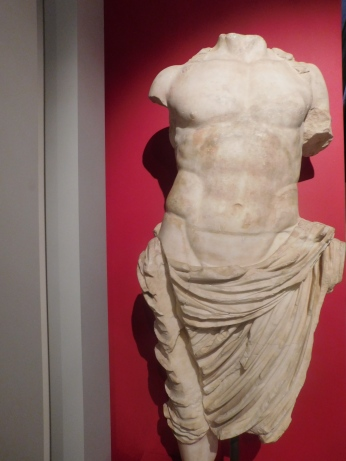 A Roman statue missing some pieces but still stunning.