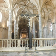 A view of the sanctuary from inside the cloister.