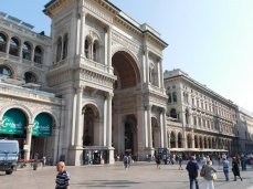The Galleria's architecture fits perfectly into its neighbors in Piazza Duomo.