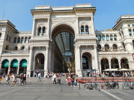 The entrance to Milan's famed Galleria