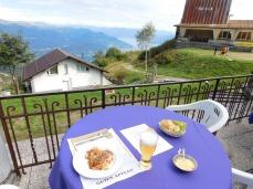 A memorable view but not memorable food.
