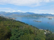 Spectacular views of Lake Maggiore and the Swiss Alps from the summit.