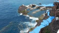 Atlantic sea-water fills the natural swimming pools below the restaurant.
