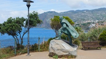 The statue to Carvajal, the discoverer of the island.