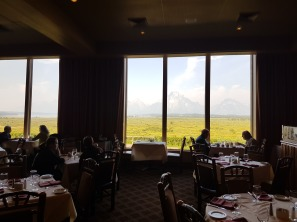 I loved a served breakfast by a window overlooking the lake and the Tetons.