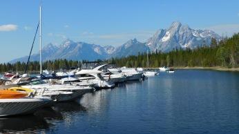 The Jackson Lake marina.