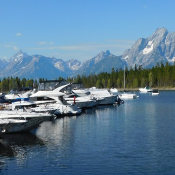 The Jackson Lake marina.