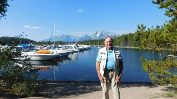A crisp morning photo-op at the marina in Grand Teton National Park.