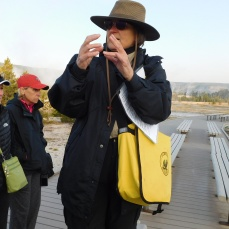 Our guide Myra knew the names of almost all the thermal features and could check expected eruption times of major geysers on her phone app.