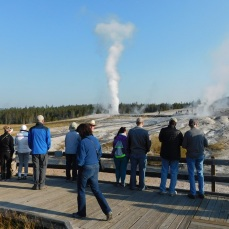 Our group loved the Beehive Geyser.