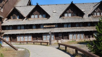 The 1904 Old Faithful Inn received National Landmark status in 1987.