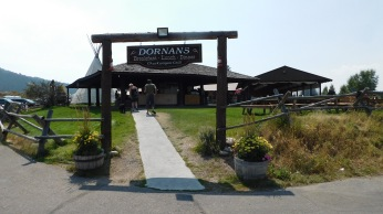 Dornan's restaurant for lunch with great views of the Tetons.