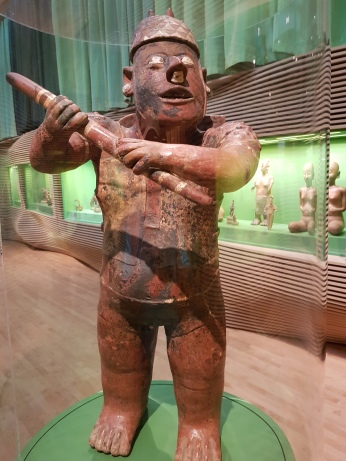 A ceramic warrior, Colima.