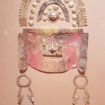 A pre-Inca Peruvian death mask. BCE.