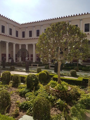 The peristyle garden features plants and herbs known to Roman households.