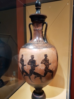 A Cypriot vase depicts runners (2000 BCE).