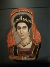 Painting of Isadora, Roman Egypt, 100 CE.