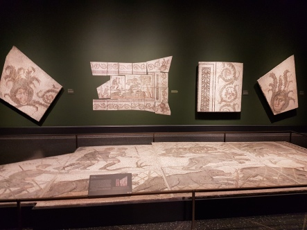 Roman mosaic floors and wall panels.