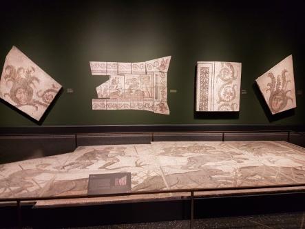 Roman mosaic floors and wall panels.