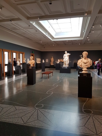 The collection of Roman and Etruscan works is impressive and beautifully displayed.