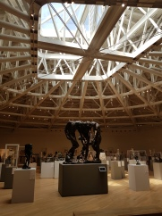 The sixth floor of Soumaya holds the sculpture collection. In the center is Rodin's Las Tres Sombras (The Three Shades), mid 1880s.