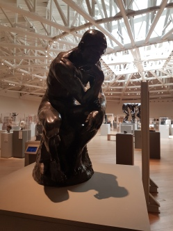 One of several copies of Rodin's The Thinker.