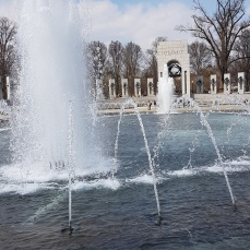 The National World War II Memorial.