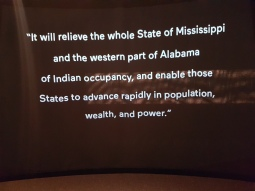 President Andrew Jackson's justification for expelling natives from their tribal lands.