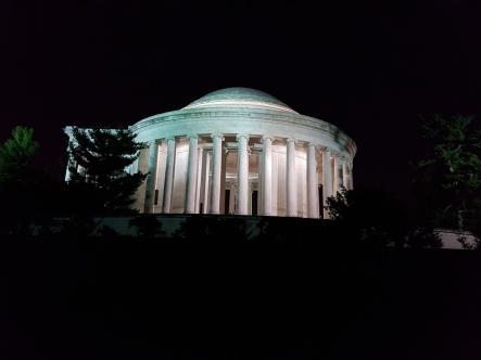 The Jefferson Memorial.